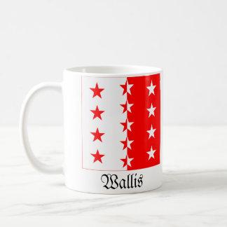 Wallis, drapeaux de Schweiz Fahnen Tasse À Café
