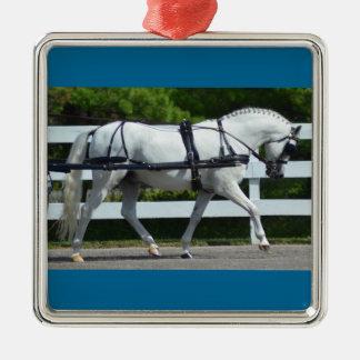 Walnuss-Hügel-Wagen, der Show 2015 fährt Silbernes Ornament