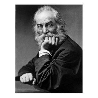 """Walt Whitman """"Gesicht immer in Richtung zum Postkarte"""