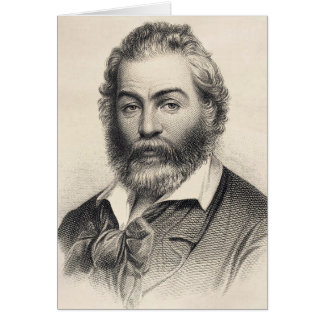 """Walt Whitman """"Glück in diesem Platz, diese Stunde Karte"""