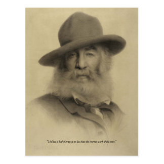 Walt Whitman ❝JourneyWork des Stars❞ Postkarte