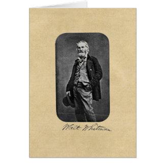 """Walt Whitman, """"nehmen Sie zur offenen Straße"""" Karte"""