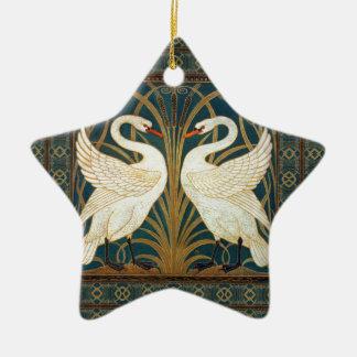 Walter-Kran-Schwan, Eile und Iris-Kunst Nouveau Keramik Ornament
