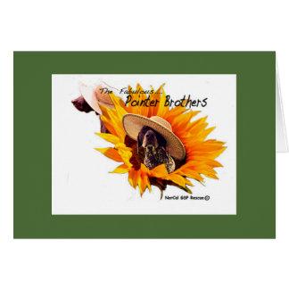 Walter- und Lutherspaß mit Hut-Sonnenblume Karte