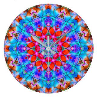 Wand-Uhr-Kaleidoskop-Diamant-Blume G408 Große Wanduhr