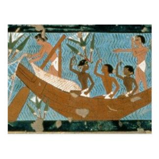 Wandbild vom Grab von Ipuy, Thebes, depic Postkarte