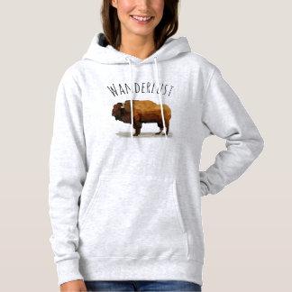 WANDERLUST Hoodie: Amerikanischer Büffel (Bison) Hoodie