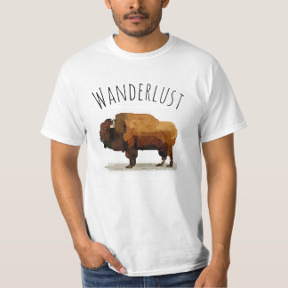 WANDERLUST T - Shirt: Amerikanischer Büffel T-Shirt