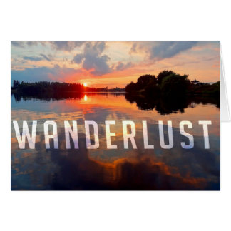 Wanderlustpostkarte Grußkarte