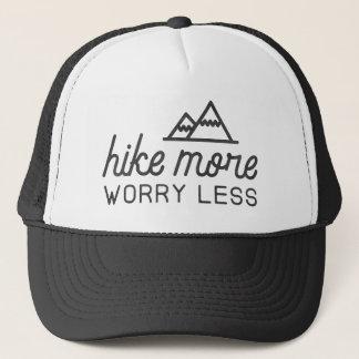 Wandern Sie mehr, sorgen Sie sich weniger Truckerkappe