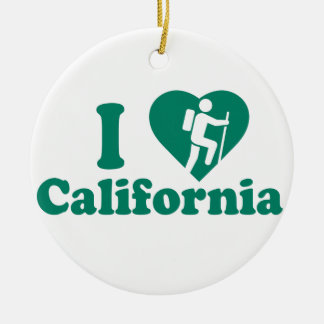 Wanderung Kalifornien Keramik Ornament