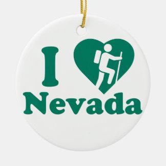 Wanderung Nevada Rundes Keramik Ornament