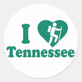 Wanderung Tennessee Runder Aufkleber
