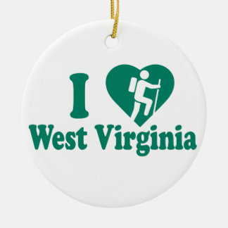 Wanderung West Virginia Keramik Ornament