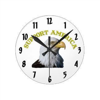 Wanduhr Stützamerikas Eagle