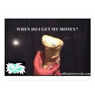 Wann erhalte ich mein Geld? Postkarte