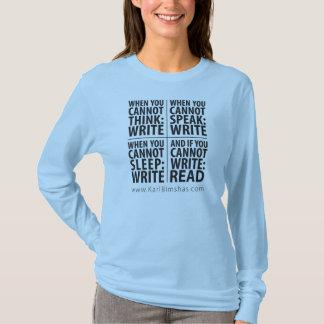 Wann man Damen langes Sleave T-Stück schreibt T-Shirt