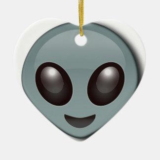 Wanzen-mit Augen alien Keramik Herz-Ornament
