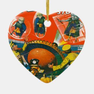 Wanzen-mit Augen Außerirdische in den Kapen Keramik Herz-Ornament