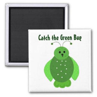 Wanzen sind grün quadratischer magnet