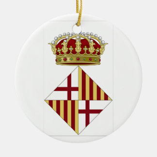 Wappen Barcelonas (Spanien) Keramik Ornament