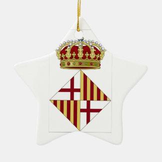 Wappen Barcelonas (Spanien) Keramik Stern-Ornament