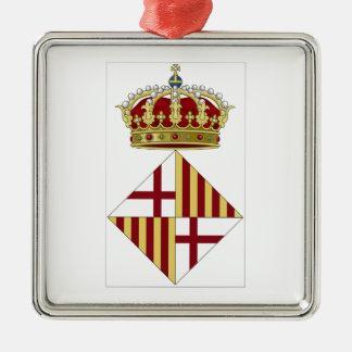 Wappen Barcelonas (Spanien) Silbernes Ornament