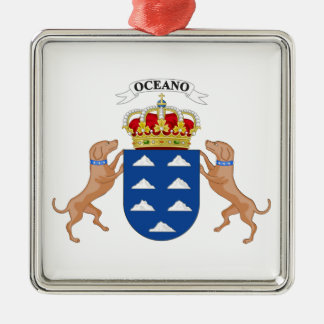 Wappen der Insel-(Spanien) Silbernes Ornament