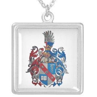Wappen der Ludwig von Mises-Familie Halskette Mit Quadratischem Anhänger