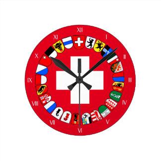 Wappen der Schweizer Bezirke Wanduhren