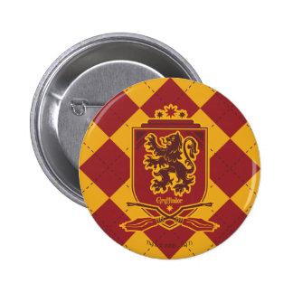 Wappen Harry Potter | Gryffindor Quidditch Runder Button 5,7 Cm