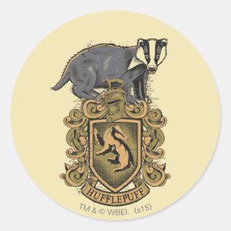 Wappen Harry Potter | Hufflepuff mit Dachs Runder Aufkleber