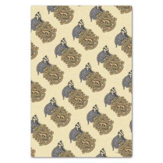 Wappen Harry Potter | Hufflepuff mit Dachs Seidenpapier