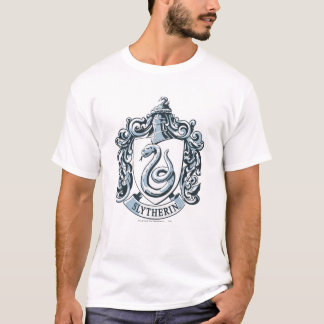 Wappen Harry Potter | Slytherin - Eis-Blau T-Shirt