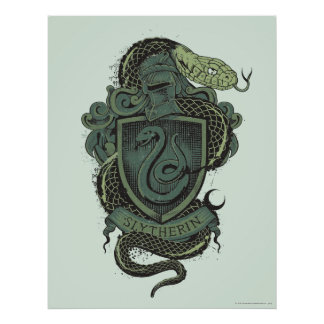 Wappen Harry Potter | Slytherin Poster