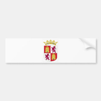 Wappen Kastiliens y Leon (Spanien) Autoaufkleber