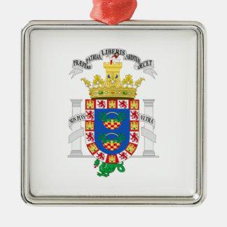 Wappen Melillas (Spanien) Silbernes Ornament
