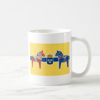 Wappen Schwedens Dala Kaffee Tassen