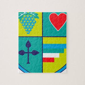 Wappen Trauben und Herzschild