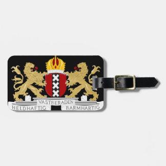 Wappen von Amsterdam Gepäckanhänger