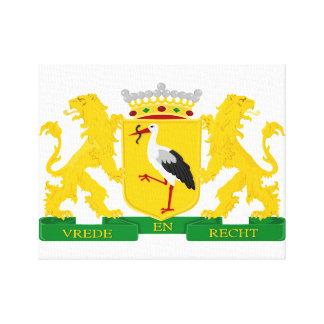Wappen von Den Haag, die Niederlande Leinwanddruck