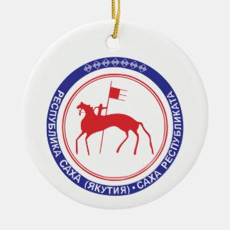 Wappen von Sakha Keramik Ornament
