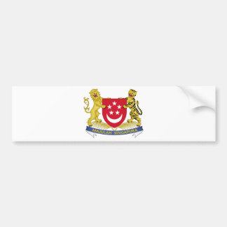 Wappen von Singapur 新加坡国徽 Emblem Autoaufkleber