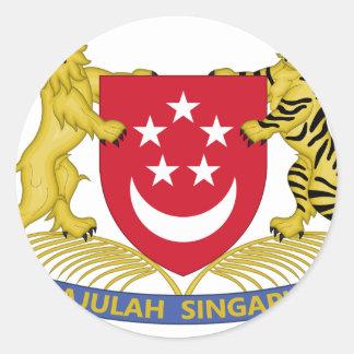 Wappen von Singapur 新加坡国徽 Emblem Runder Aufkleber