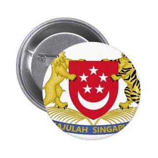 Wappen von Singapur 新加坡国徽 Emblem Runder Button 5,1 Cm