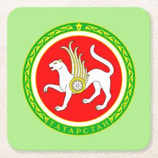 Wappen von Tatarstan Rechteckiger Pappuntersetzer