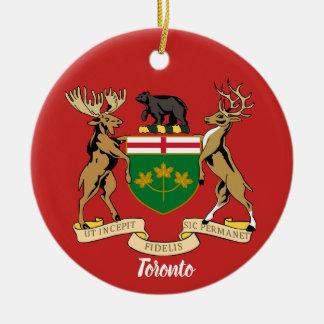 Wappen-Weihnachtsverzierung Torontos Kanada Rundes Keramik Ornament