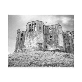 Warkworth Schloss eingewickelte Leinwand