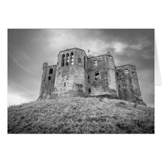 Warkworth Schloss, Northumberland, Gruß-Karte Karte