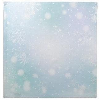 Warme aquamarine und lila serviette